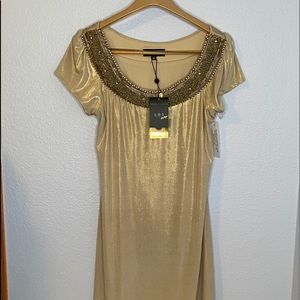 A.B.S Collection gold embellished dress
